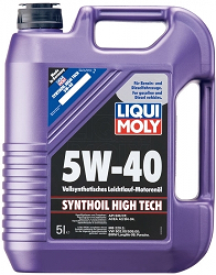 Масло моторное ликви моли SYNTHOIL HIGH TECH SAE 5W-40, 5л