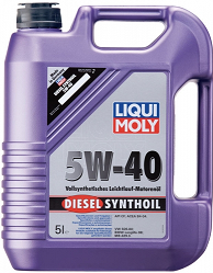 Масло моторное ликви моли DIESEL SYNTHOIL SAE 5W-40, 5л