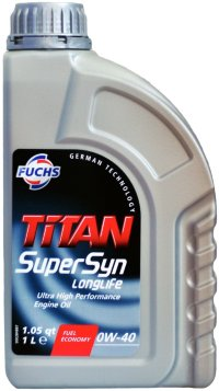 Масло моторное титан Titan Supersyn Longlife 0W-40 1л