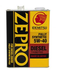 Масло моторное Idemitsu Zepro Diesel CF Fully Synthetic 5W-40, 4л