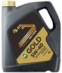 Масло моторное S-Oil 7 Gold 5w40 4л