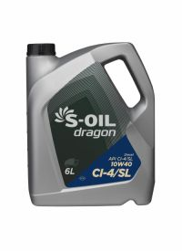 Масло моторное S-Oil Dragon 10w40 CI-4/SL 6л
